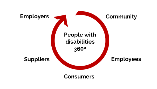 Graph - Disability Hub Europe has a 360 view
