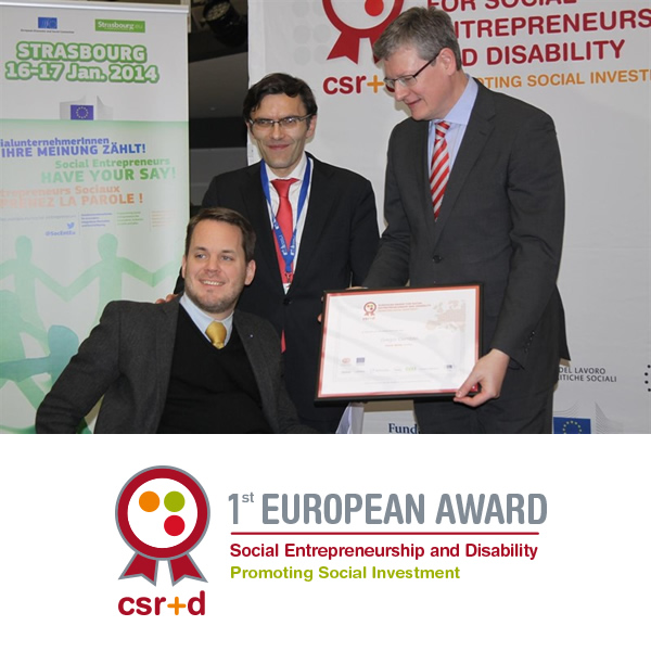 Image of Winner of the 1rst European Award for Social Entrepreneurship and Disability